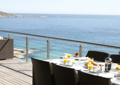 Breakfast Set Up on the Main Deck